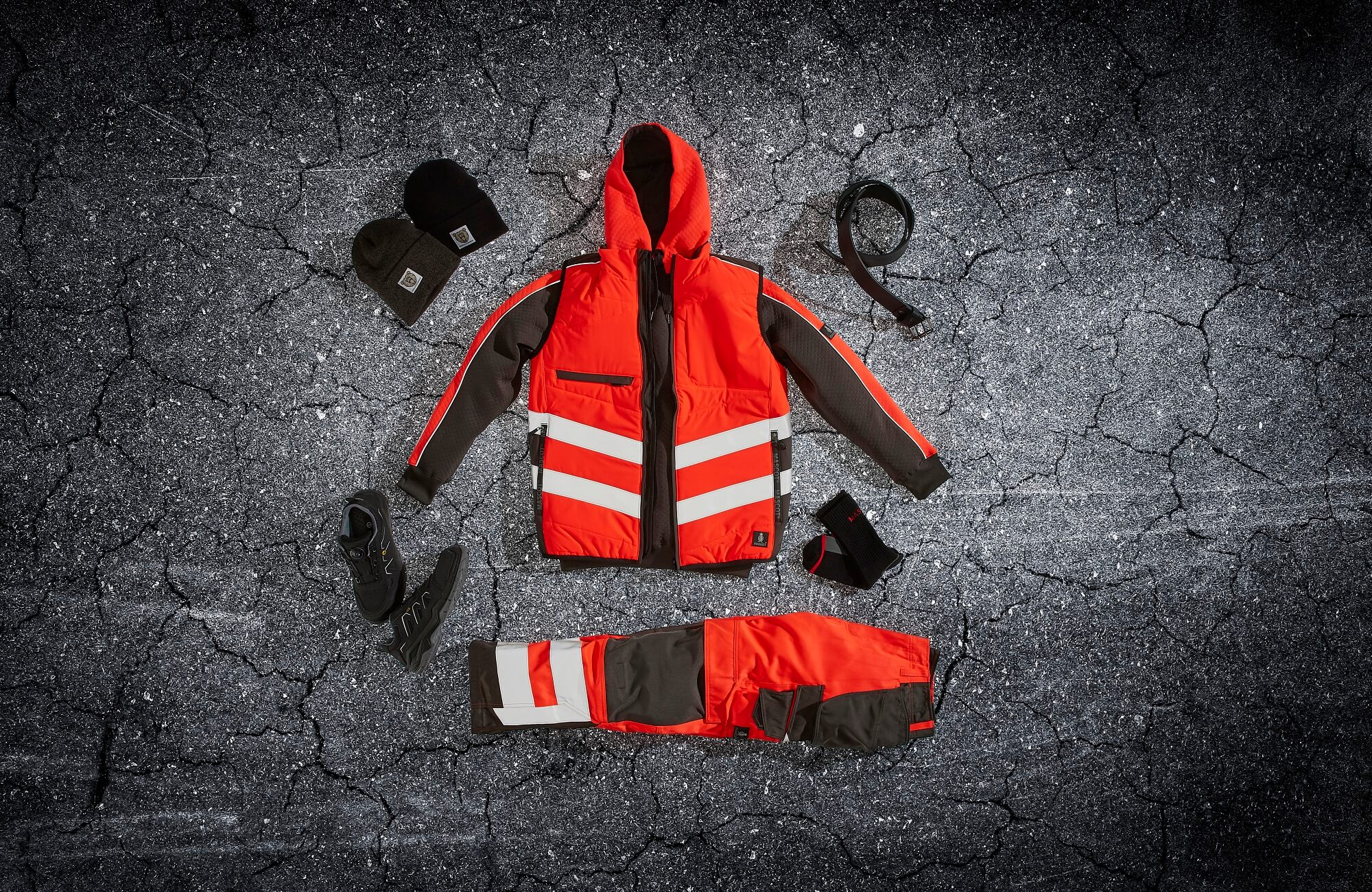 Traffic Vest, Hi-vis Pants & Accessories - Red