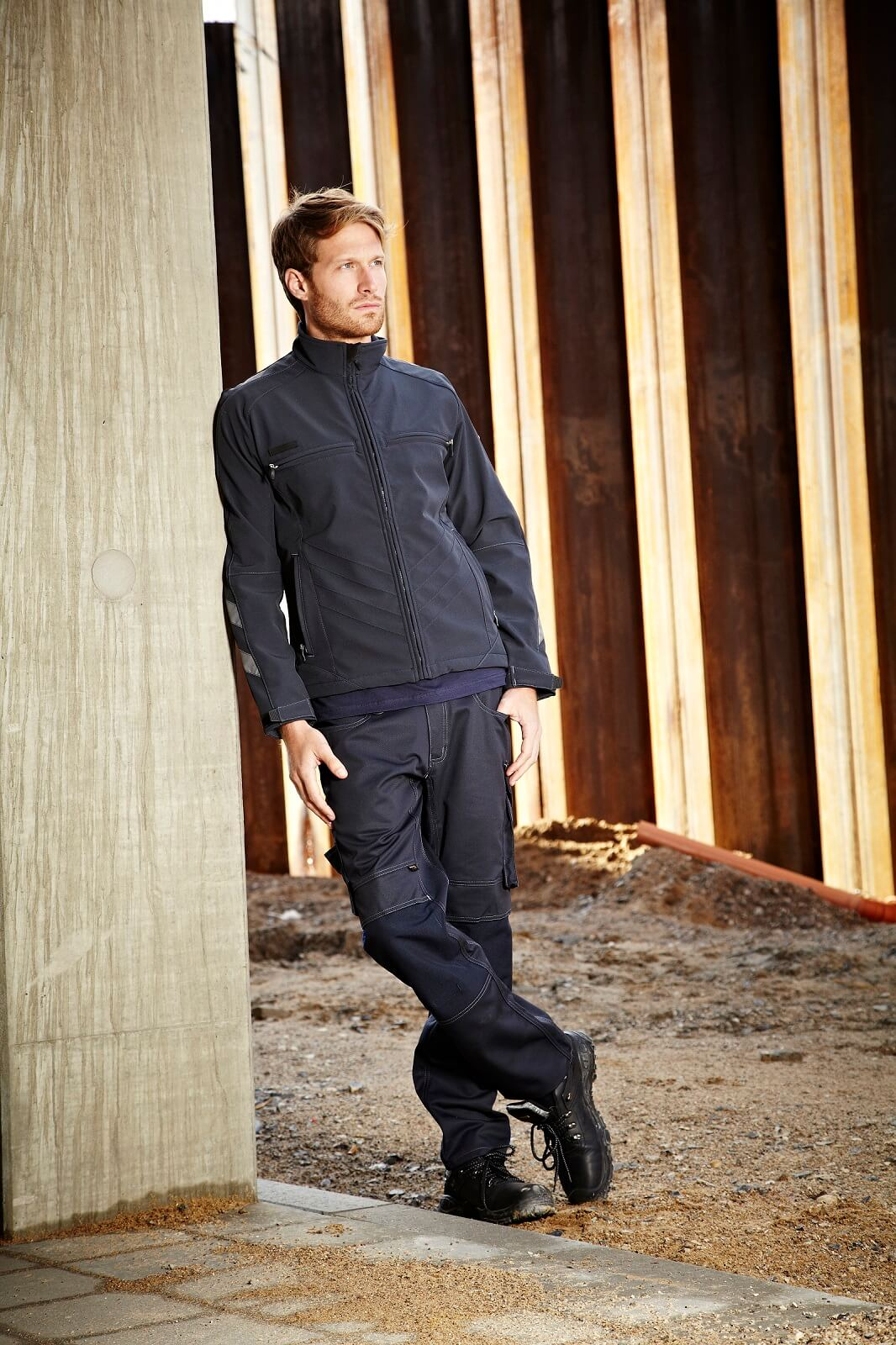 Softshell Jacket & Work Pants - Navy - Environment - MASCOT® UNIQUE