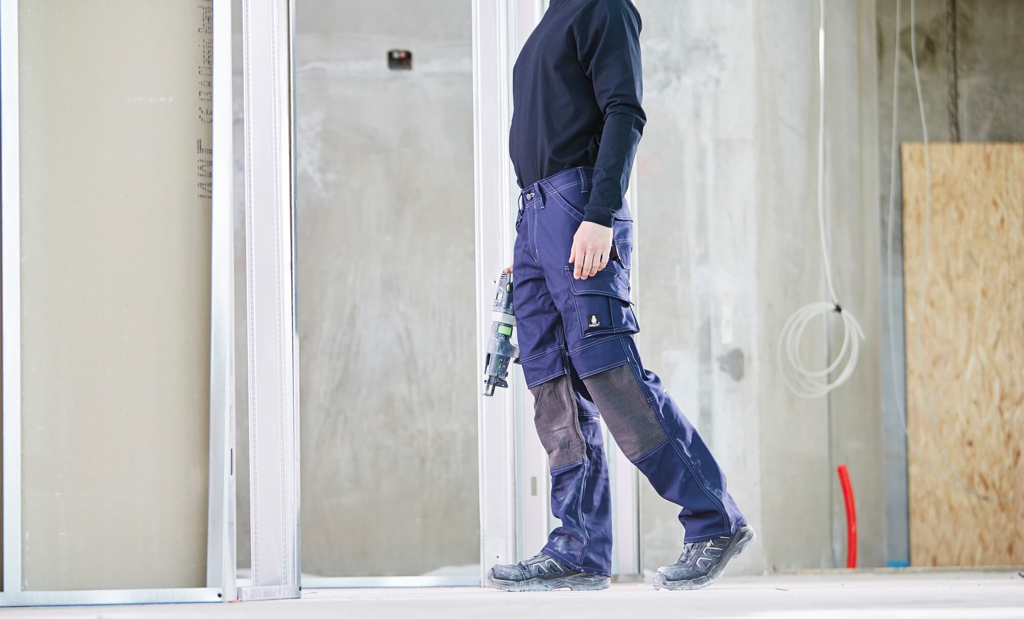 Work Pants & T-shirt, long-sleeved - Navy - Craftmen and light building