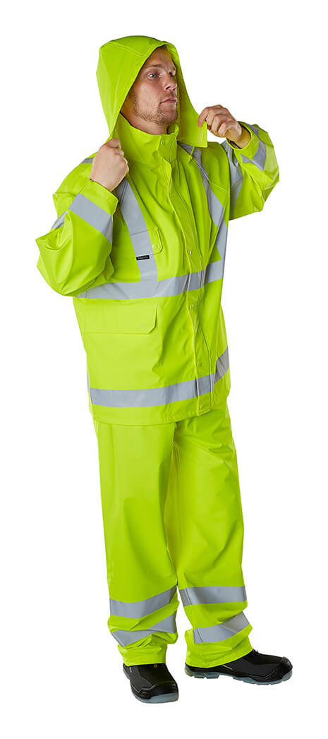 Model - Waterproof Clothing Fluorescent yellow - MASCOT® SAFE AQUA