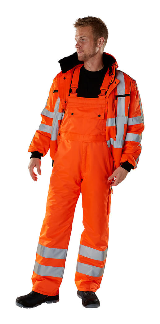 MASCOT® SAFE ARCTIC Winter Jacket & Bib & Brace - Fluorescent orange - Model