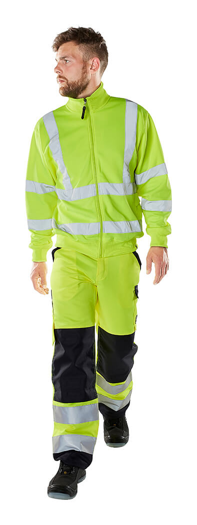Model - Zipped Jumper & Trousers - Fluorescent yellow - MASCOT® SAFE CLASSIC