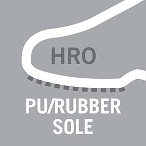 PU/rubber sole material, resistant to 300°C contact heat